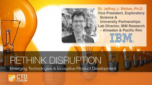 Preview: Keynote Lecture by IBM Research Director Dr. Jeff Welser at RETHINK DISRUPTION 2020