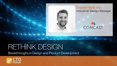 Preview Keynote by Comcast NBCUniversal Industrial Design Manager Grayson Byrd at RETHINK DESIGN 2020