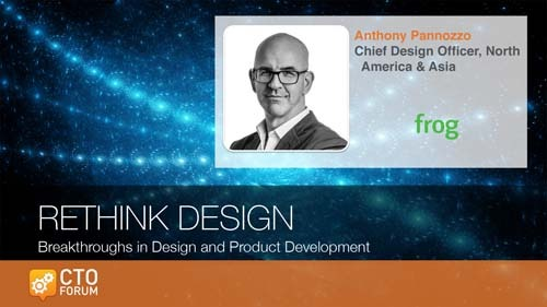 Preview Keynote by frog design Chief Design Officer Anthony Pannozzo at RETHINK DESIGN 2020
