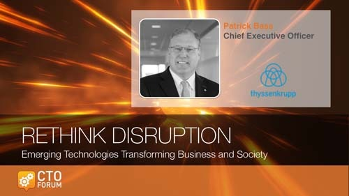 Preview of Keynote by thyssenkrupp North America CEO Patrick Bass at RETHINK DISRUPTION 2018