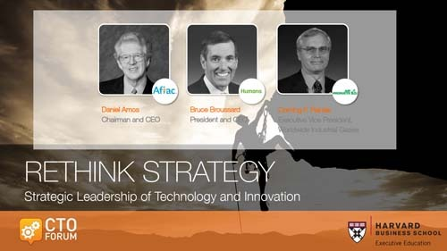 Preview of Q & A Session featuring Aflac CEO Daniel Amos, Humana CEO Bruce Broussard, and Air Products Corning Painter at RETHINK STRATEGY 2017