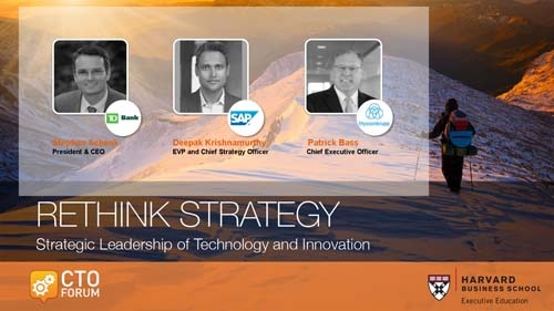 Preview of Q & A Session featuring TD Bank Stephan Schenk, SAP Deepak Krishnamurthy, and thyssenkrupp North America Patrick Bass at RETHINK STRATEGY 2018