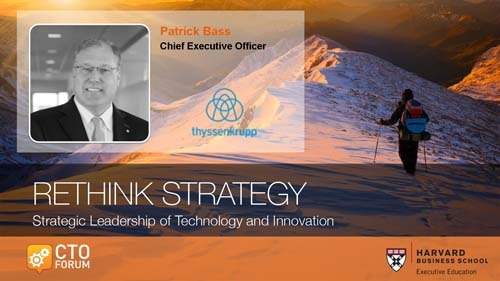 Executive Keynote by thyssenkrupp North America CEO Mr. Patrick Bass at RETHINK STRATEGY 2018